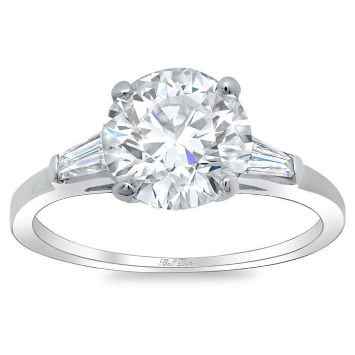 sapphire white jewelry engagement wedding cut three silver rings lajerrio round stone sterling