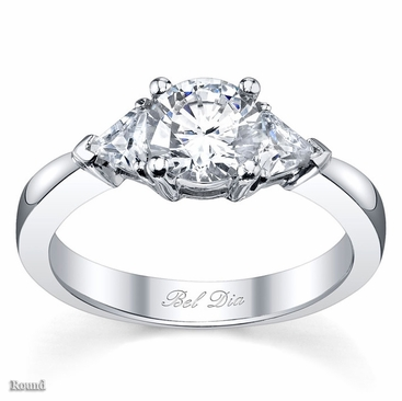 three stone engagement ring with trillions click to enlarge - Stone Wedding Rings
