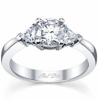 Three Stone Engagement Ring with Trillions