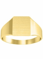 Rounded Edge Square Signet Rings For Women