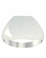 Rounded Square Ladies Signet Ring