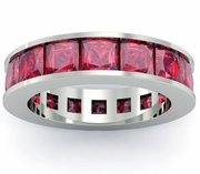 Ruby Birth Stone Eternity Band
