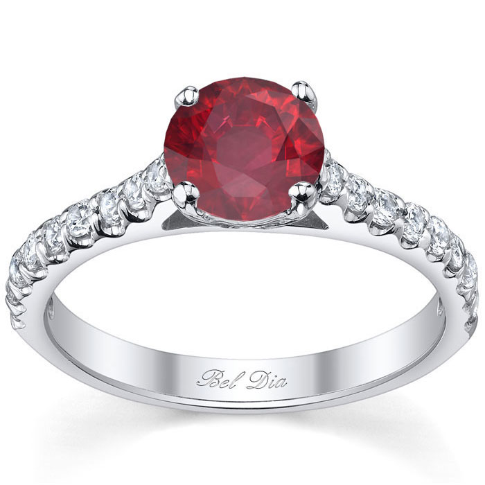 ruby engagement rings - Ruby Wedding Rings