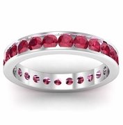 Ruby Eternity Band in Channel Setting