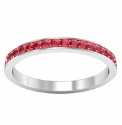 Ruby Eternity Band in Pave Setting (0.50 cttw)
