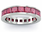 Ruby Gemstone Eternity Band