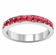 Ruby Pave Eternity Ring (1.30 cttw)