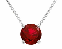 Ruby Solitaire Pendant