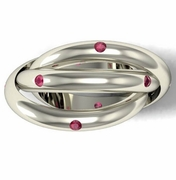 Ruby Trinity Ring in Gold or Platinum