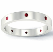 Ruby Flat Landmark Eternity Ring