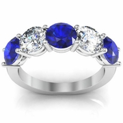 Sapphire September Birth Stone Ring 3.00cttw