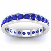 Sapphire Eternity Band in Channel Setting