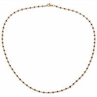Sapphire Station Necklace Yellow Gold