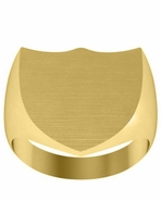 Shield Face Signet Ring