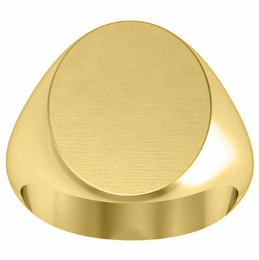 Signet Ring 14kt Yellow Gold - click to enlarge