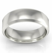 Simple Bevel Wedding Band 6mm