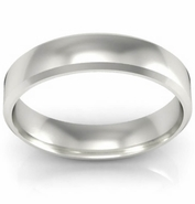 Simple Gold Bevel Ring 4mm