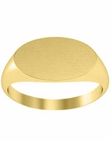 Simple Oval Cheap Signet Ring Gold