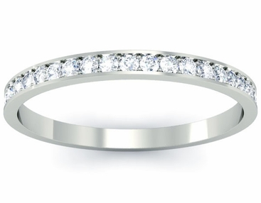 Single Row Pave Diamond Eternity Ring - click to enlarge