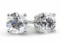 Small Diamond Stud Earrings for Women