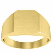 Solid Back Signet Ring