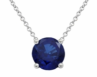Solitaire Sapphire Necklace