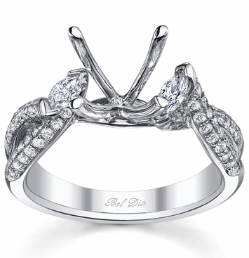twisted shank three stone engagement ring setting with marquise diamonds click to enlarge - Wedding Ring Setting