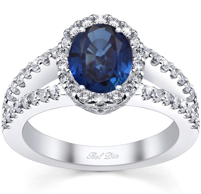 Celebrity blue diamond engagement rings