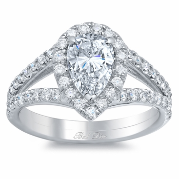 split shank pear shaped engagement ring click to enlarge - Pear Shaped Wedding Ring