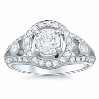 Split Shank Round Engagement Ring Setting 1.80 cttw