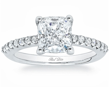 Square Pave Engagement Ring - click to enlarge