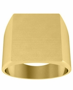 Square Plain Signet  Ring
