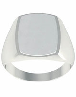 Square Step Edge Signet Rings
