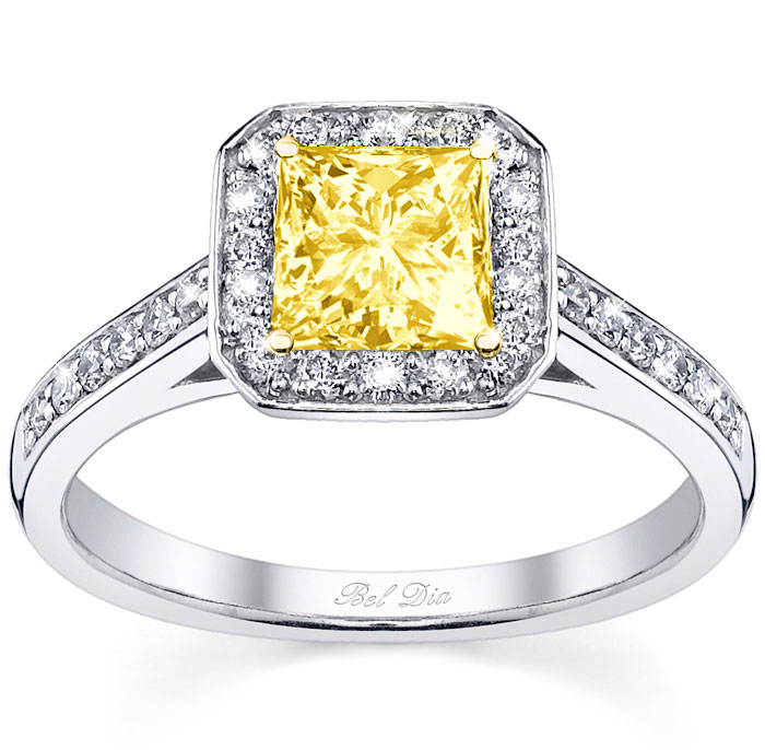 yellow diamond wedding ring square yellow engagement ring 1515