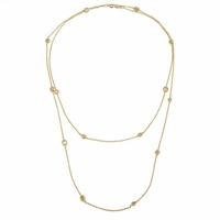 Station Necklace Yellow Gold with Fancy Yellow Diamonds