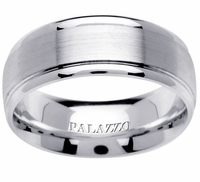 Step Down Palladium Ring 8mm