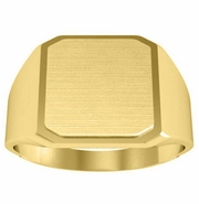 Step Edge Signet Ring