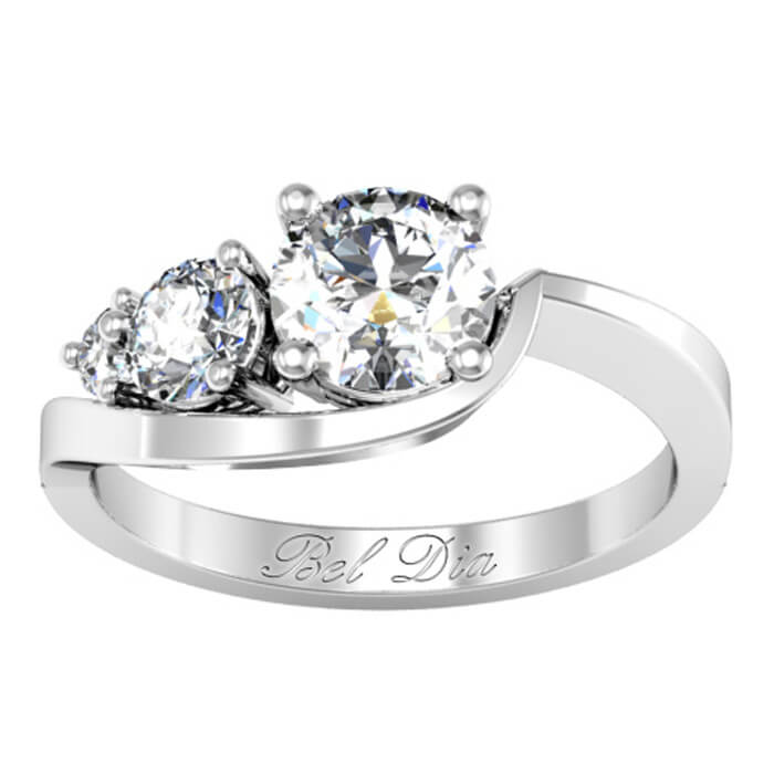 side round diamond three stone jewellery center with stones marquise and in engagement platinum ring white rockher