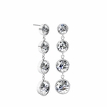 Tapered Dangling Diamond Earrings