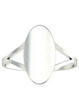 Tapered Shank Signet Rings Tall Oval