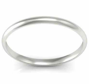 Thin Gold Wedding Ring 2mm - click to enlarge