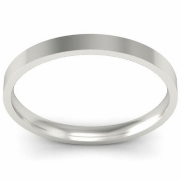 Thin Simple Wedding Ring 2mm - click to enlarge