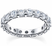 Three Carat Diamond Eternity Wedding Ring