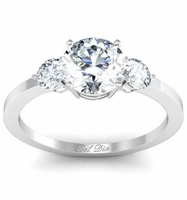 Three Stone Round Diamond Engagement Ring (0.50cttw) Preset