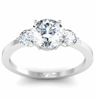 Three Stone Round Diamond Engagement Ring 1.00cttw Preset