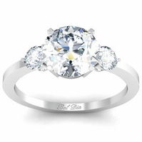 Three Stone Round Diamond Engagement Ring 2.00cttw Preset