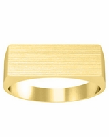 Trendy Flat Topped Signet Rings Gold