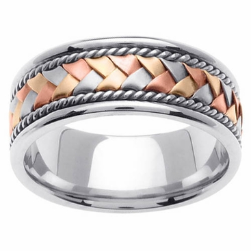 tri colored gold ring 14 karat 85mm click to enlarge