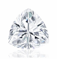 Trillion Cut Charles and Colvard Forever One Moissanite