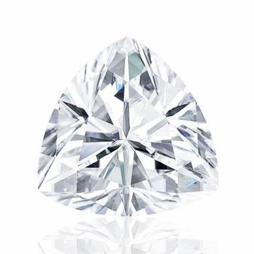 Trillion Cut Charles and Colvard Forever One Moissanite - click to enlarge